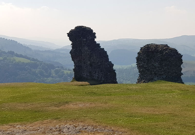 On top of Dinas Bran Castle, Llangollen