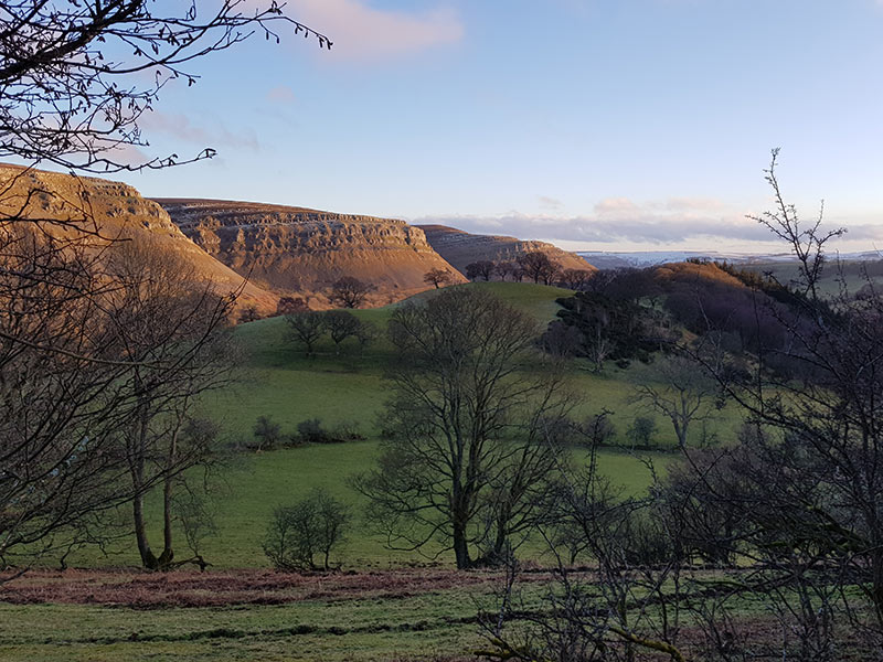 The limestone escarpment, Llangollen