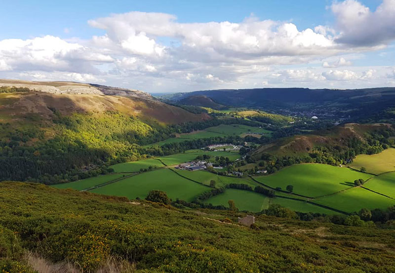 View from hills around Llangollen